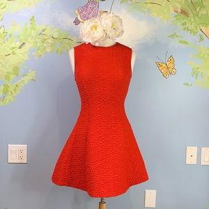 🍂🎄✨Zara Textured Fit & Flare Dress Women size M